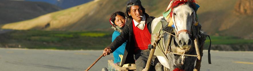 Paard rijden in Nepal