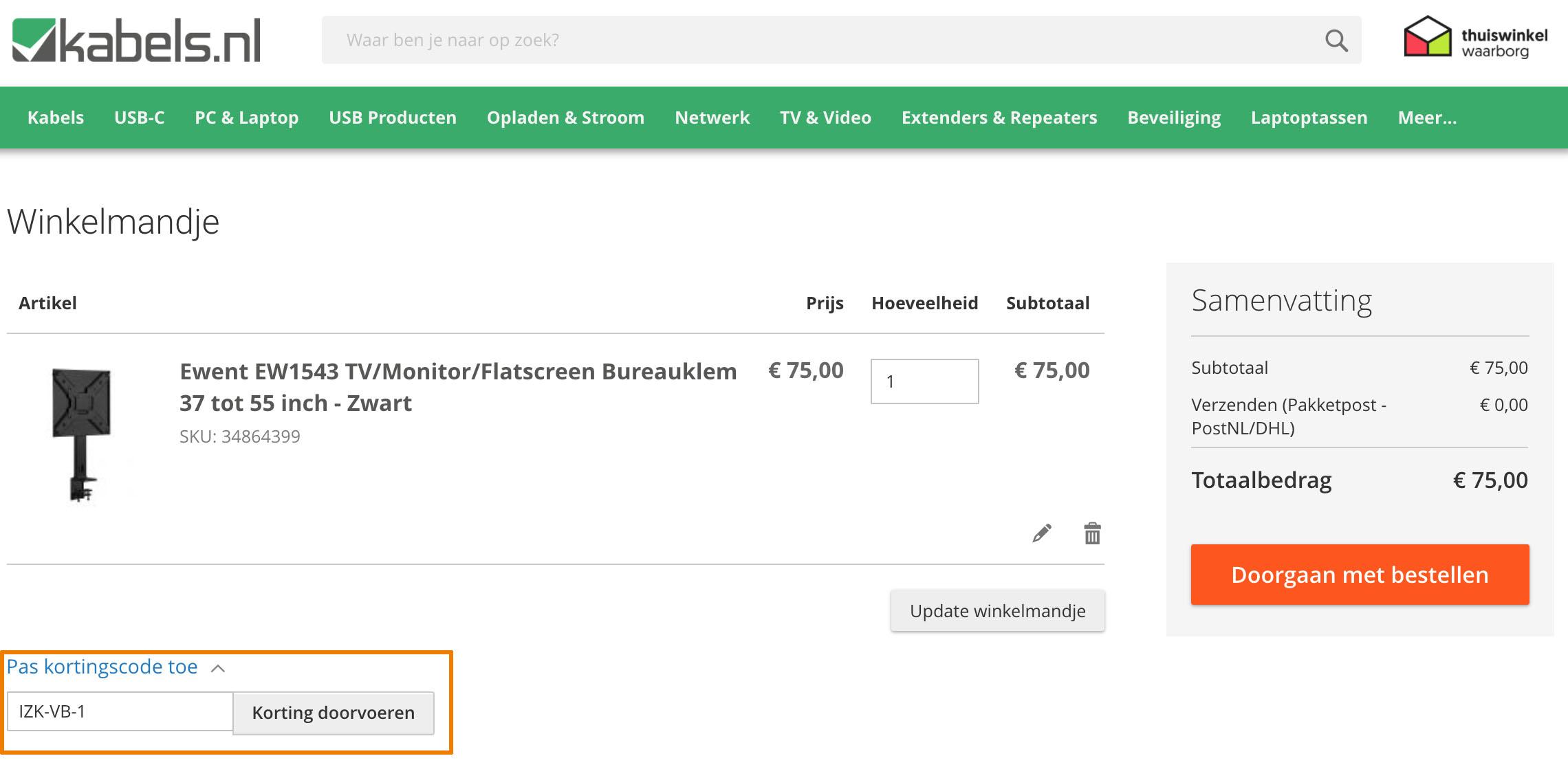 Hoe gebruik je een Kabels.nl aanbieding