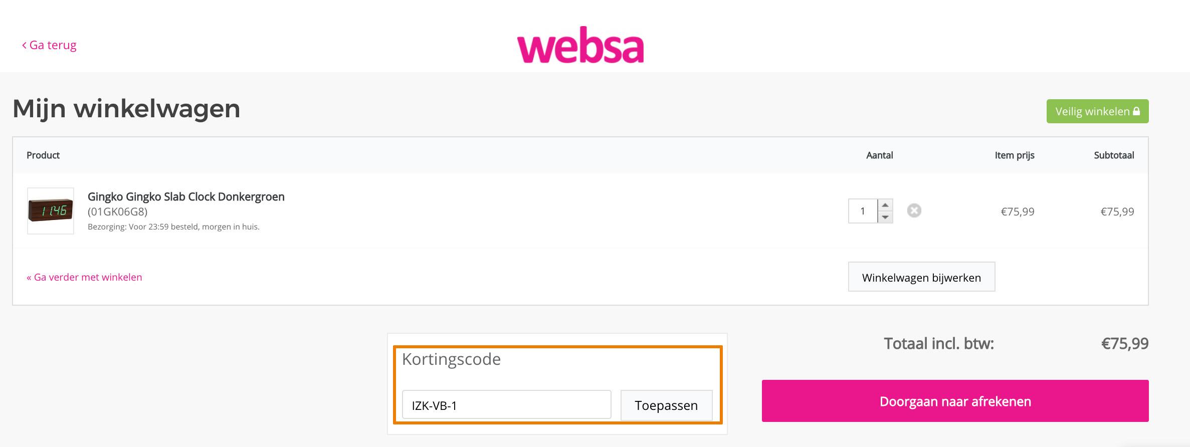 Hoe gebruik je een Websa aanbieding