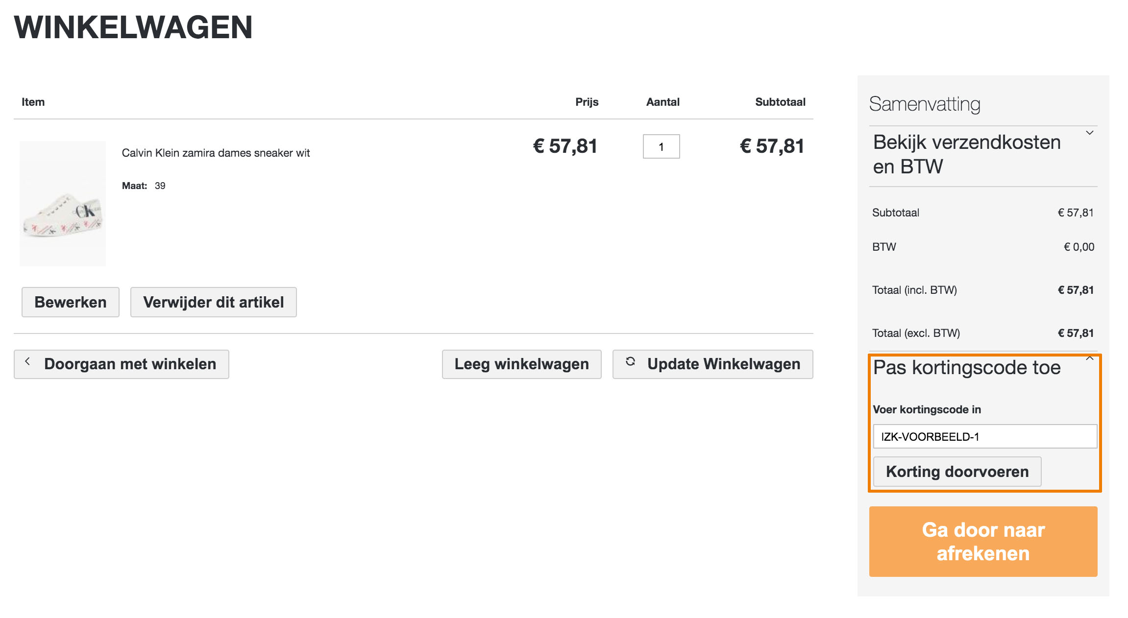 Hoe gebruik je een Schoenenwinkel.nl aanbieding