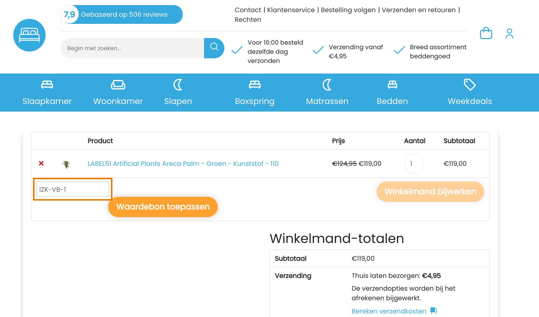 Hoe gebruik je een Dekbeddengoed.nl aanbieding