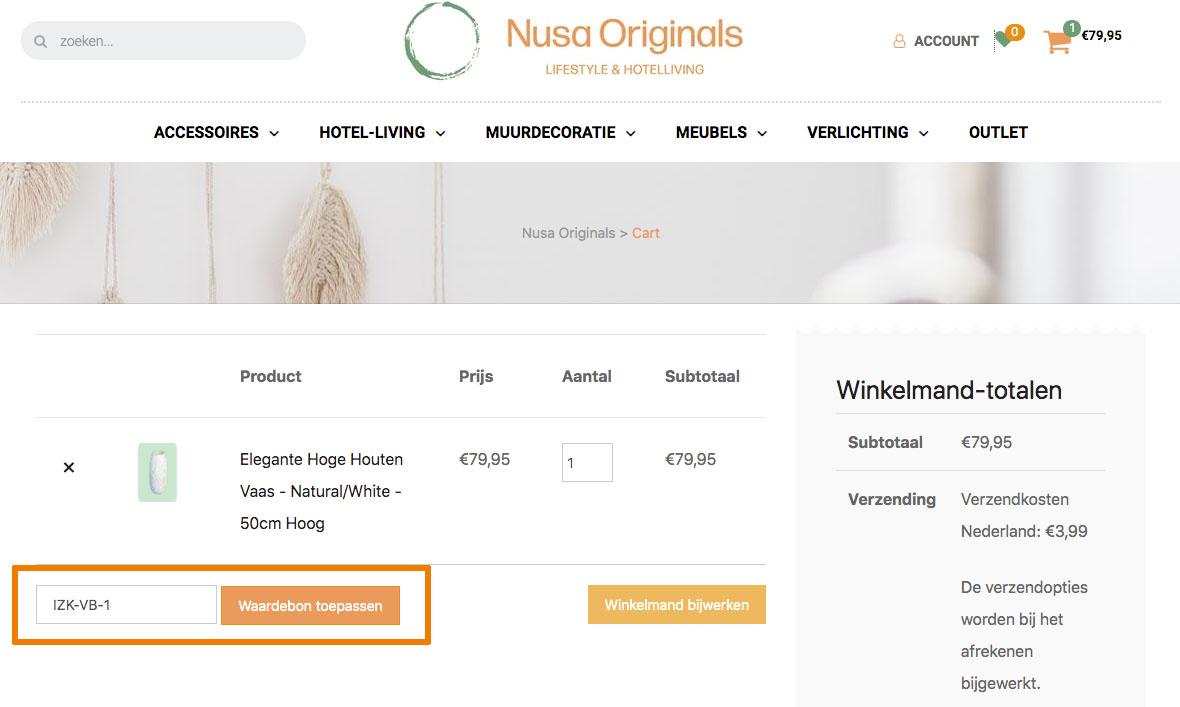 Hoe gebruik je een Nusa Originals aanbieding