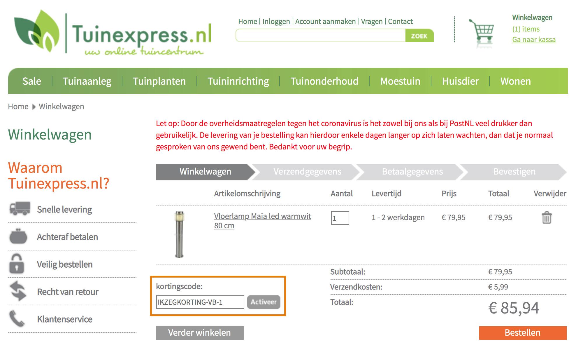 Hoe gebruik je een Tuinexpress aanbieding