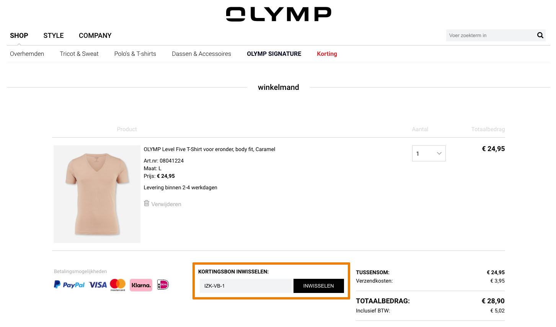 Hoe gebruik je een OLYMP aanbieding