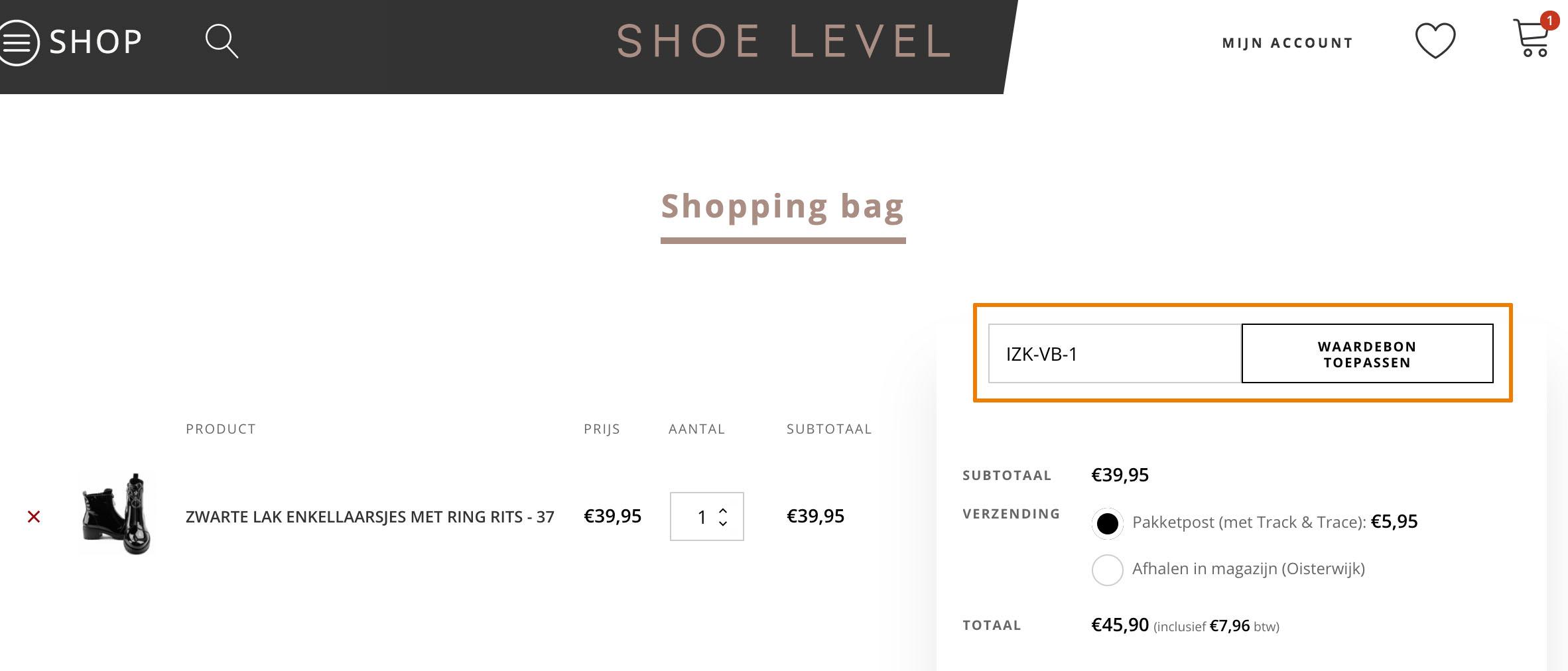 Hoe gebruik je een Shoe Level aanbieding