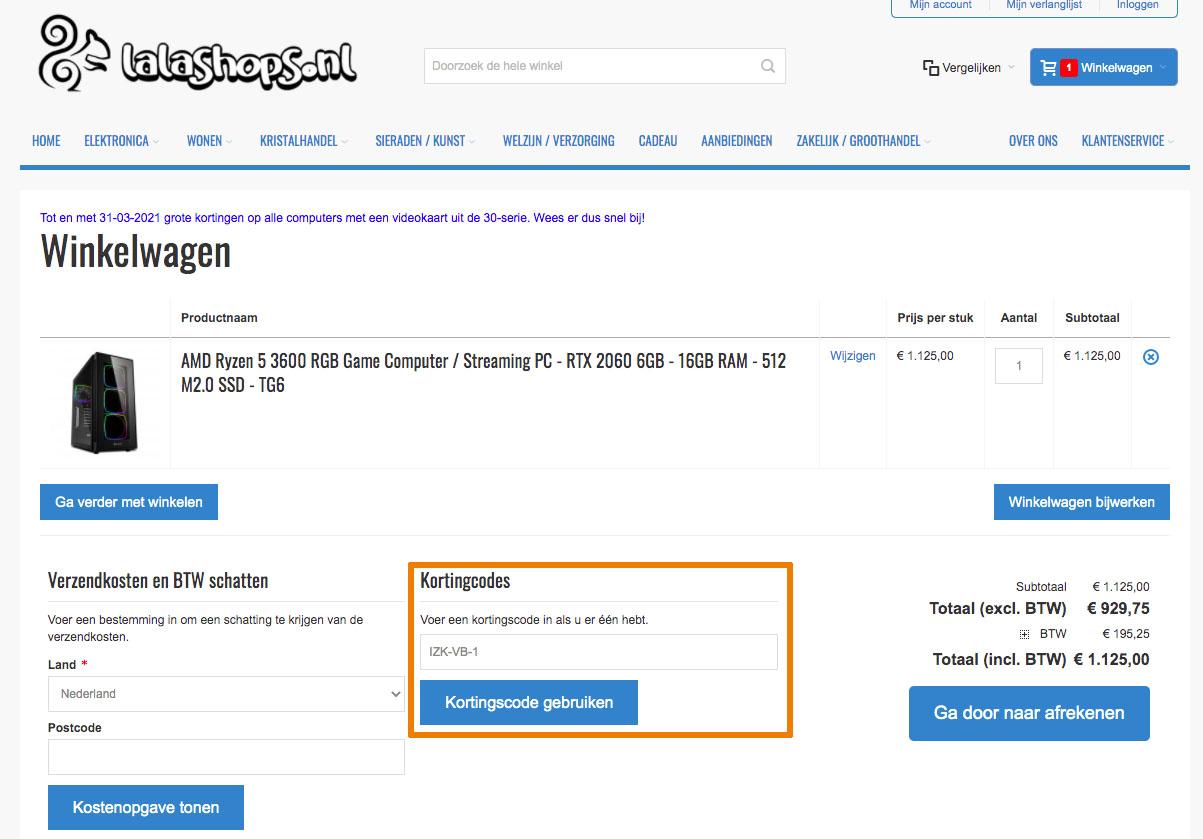 Hoe gebruik je een LalaShops.nl aanbieding