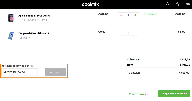 Hoe gebruik je een Coolmix aanbieding