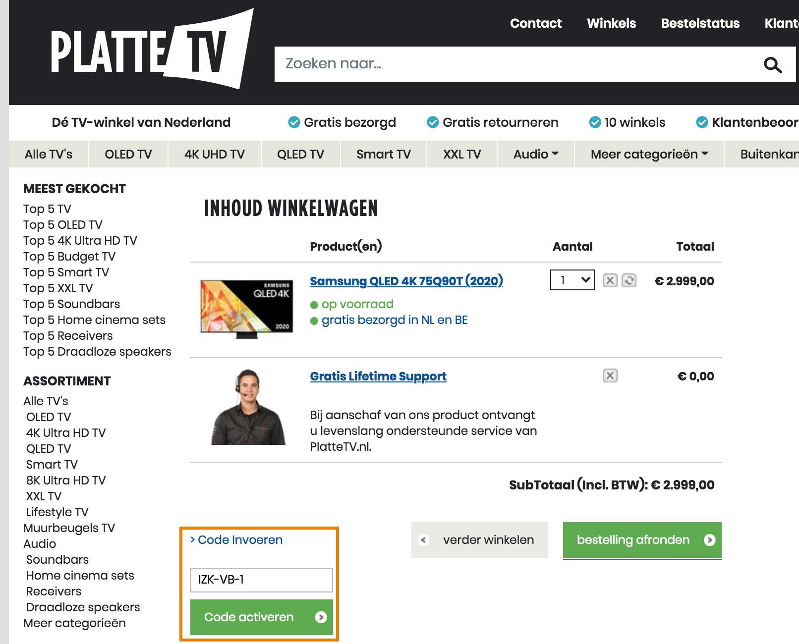 Hoe gebruik je een PlatteTV aanbieding