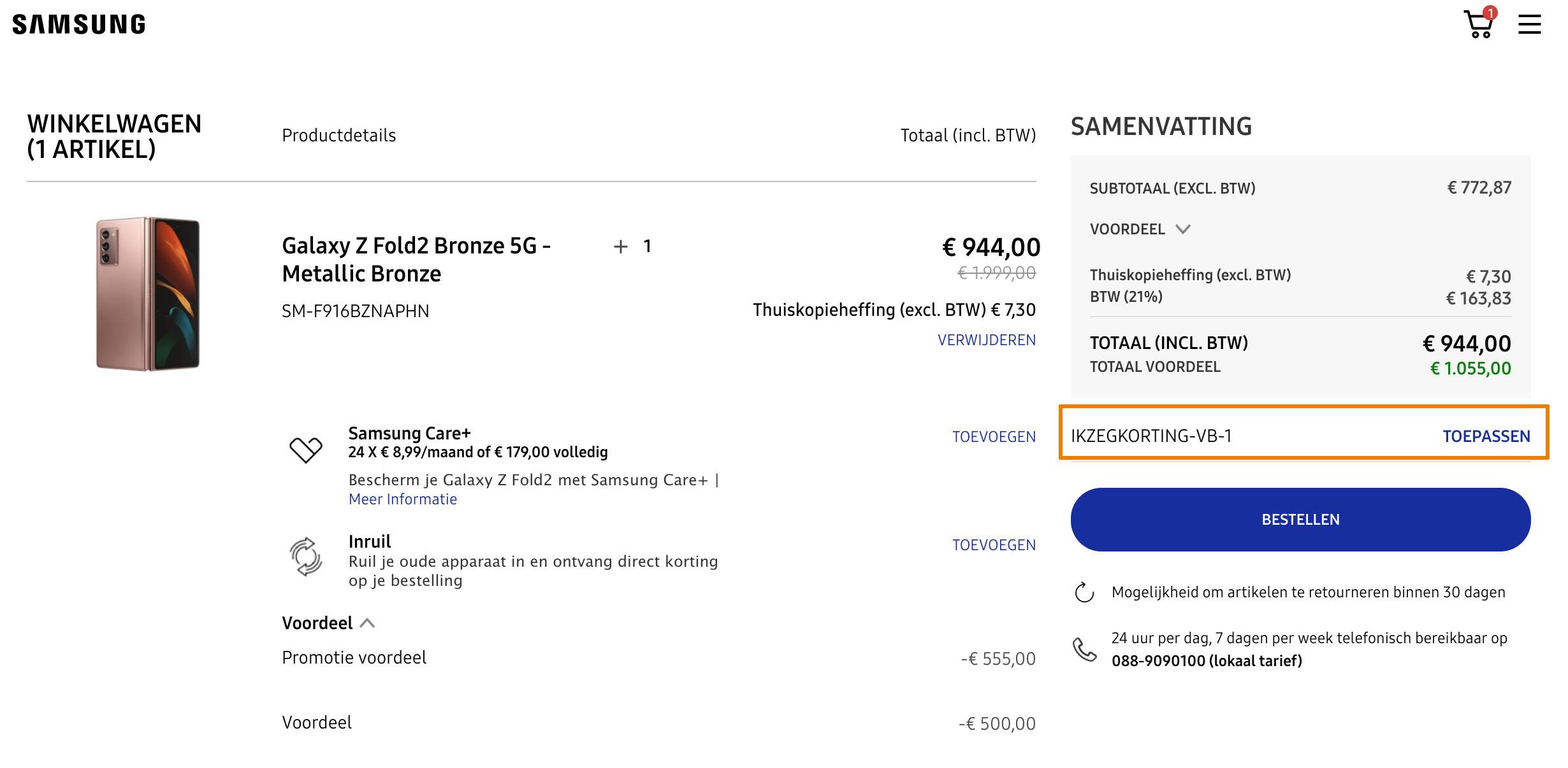 Hoe gebruik je een Samsung aanbieding