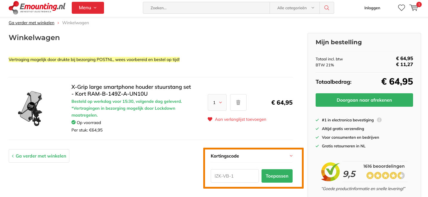 Hoe gebruik je een Emounting.nl aanbieding