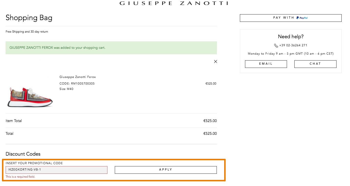 Hoe gebruik je een Giuseppe Zanotti aanbieding