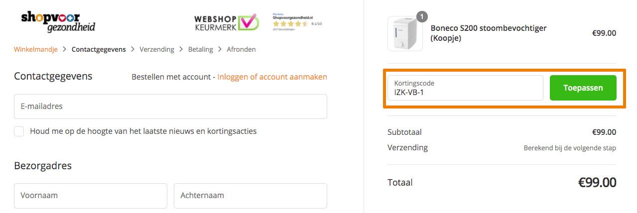 Hoe gebruik je een Shopvoorgezondheid aanbieding