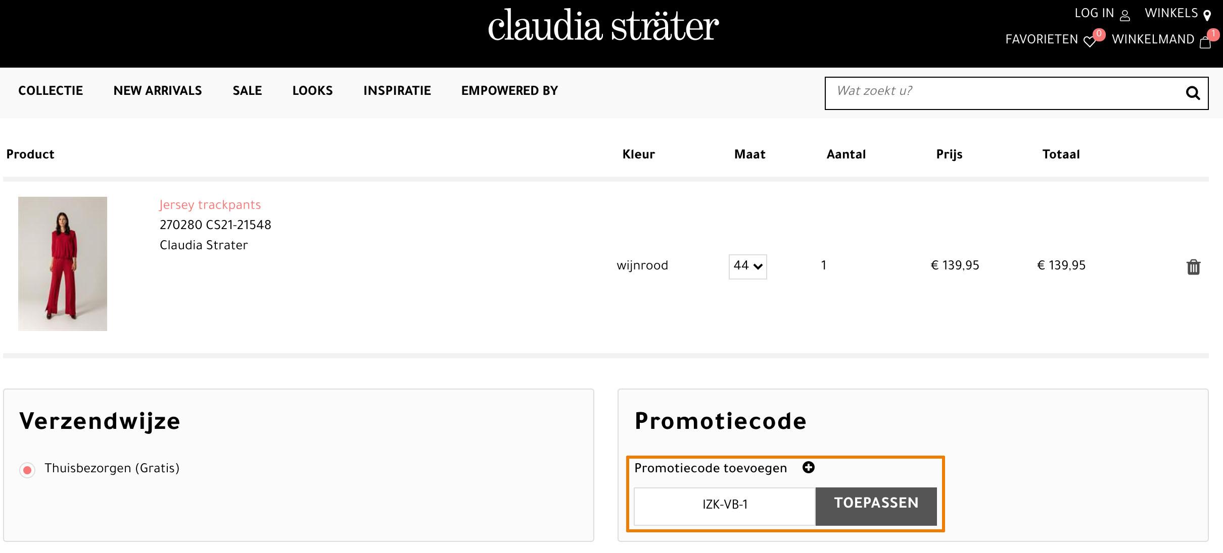 Hoe gebruik je een Claudia Sträter aanbieding