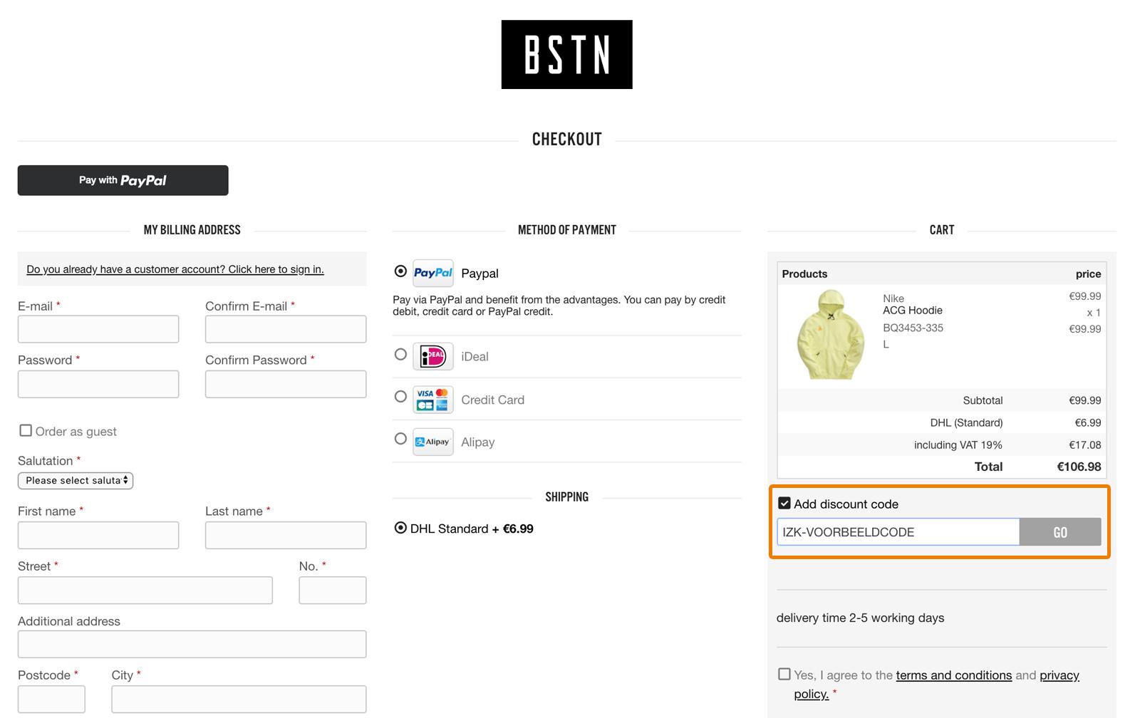 Hoe gebruik je een BSTN Store aanbieding