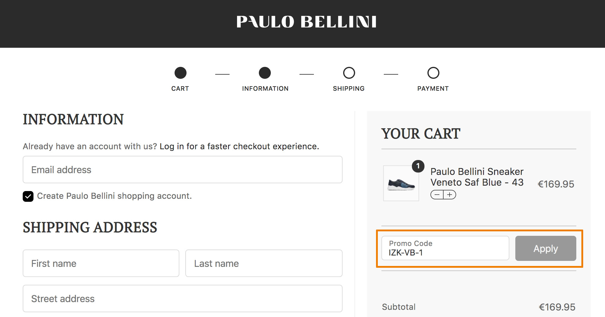 Hoe gebruik je een Paulo Bellini aanbieding