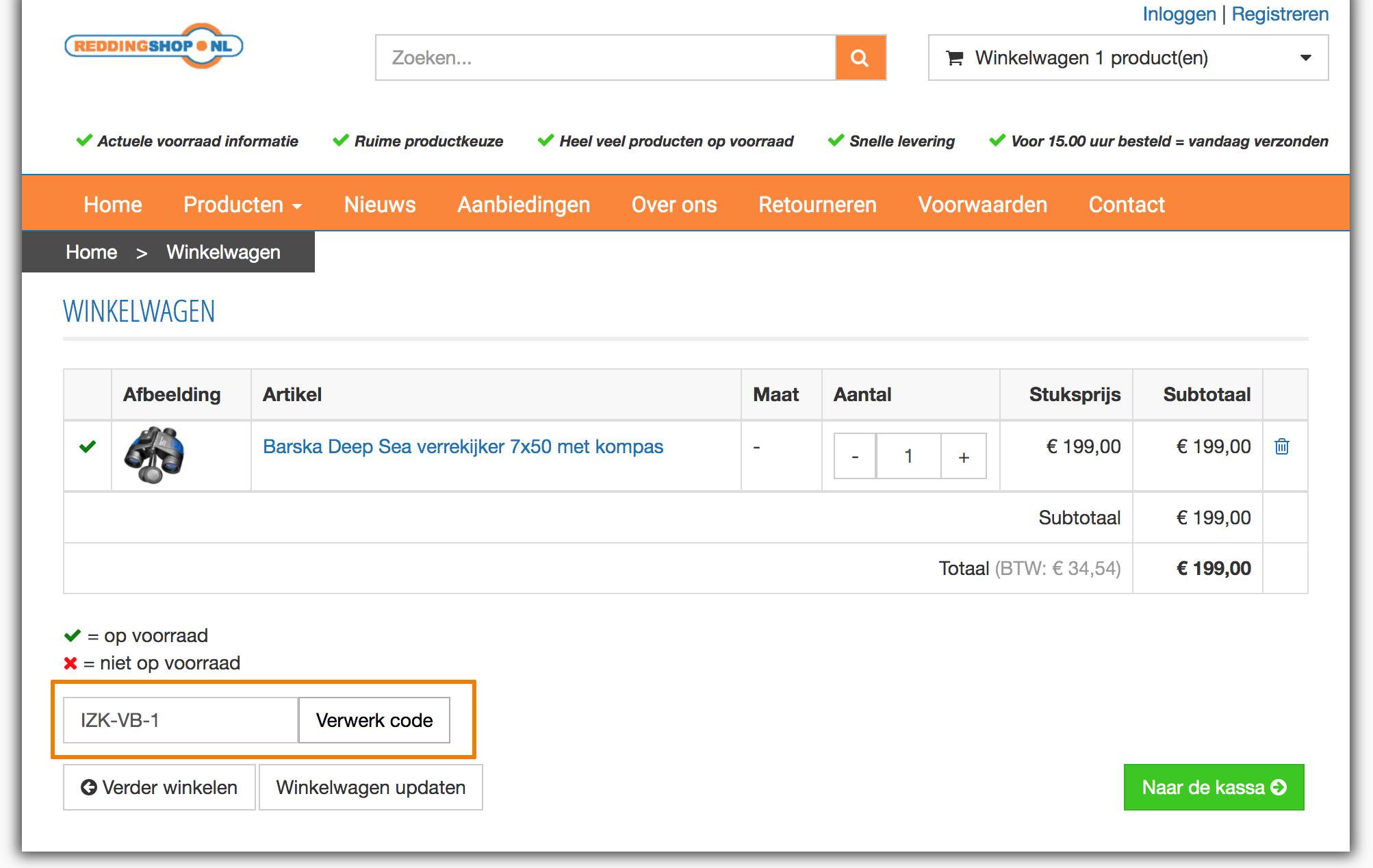 Hoe gebruik je een Reddingshop.nl aanbieding