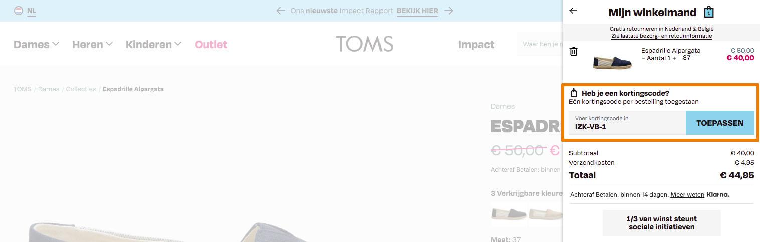 Hoe gebruik je een Toms aanbieding