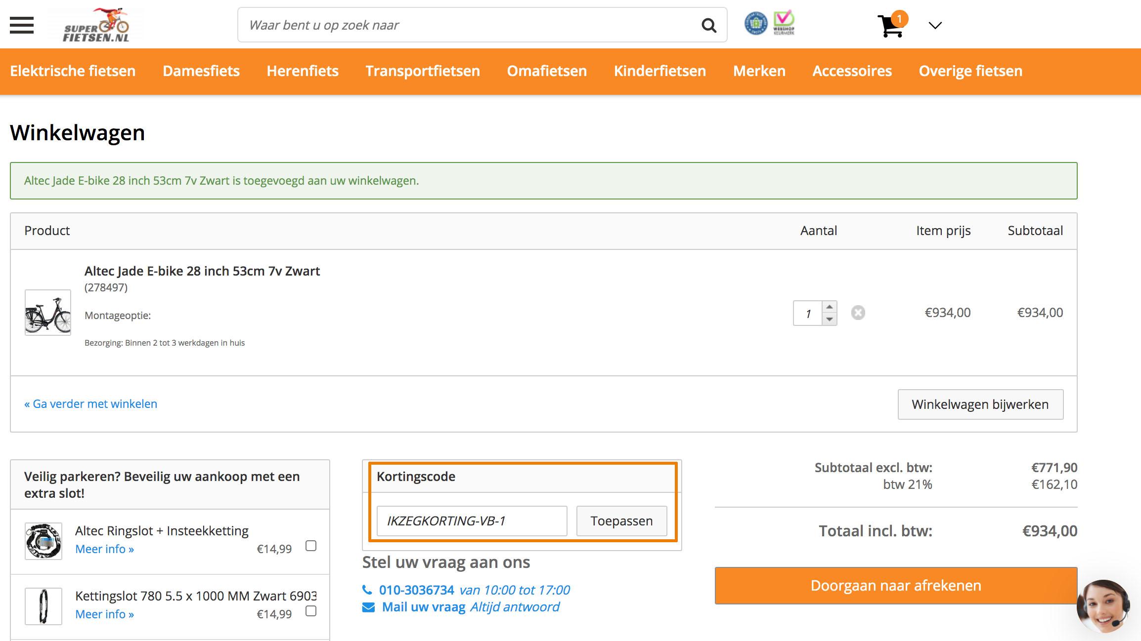Hoe gebruik je een Superfietsen.nl aanbieding
