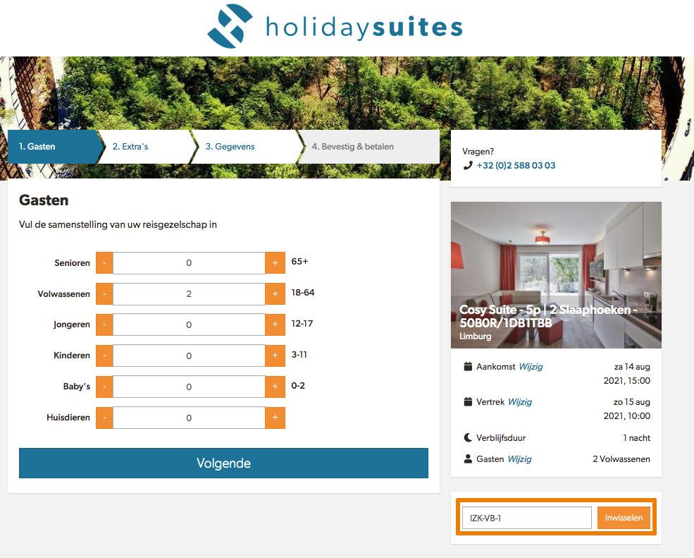 Hoe gebruik je een Holiday Suites aanbieding