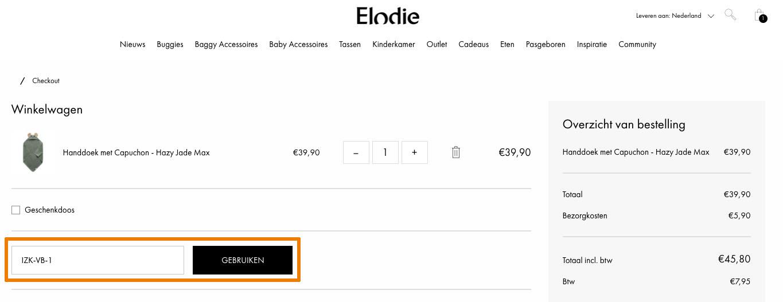 Hoe gebruik je een Elodie Details aanbieding
