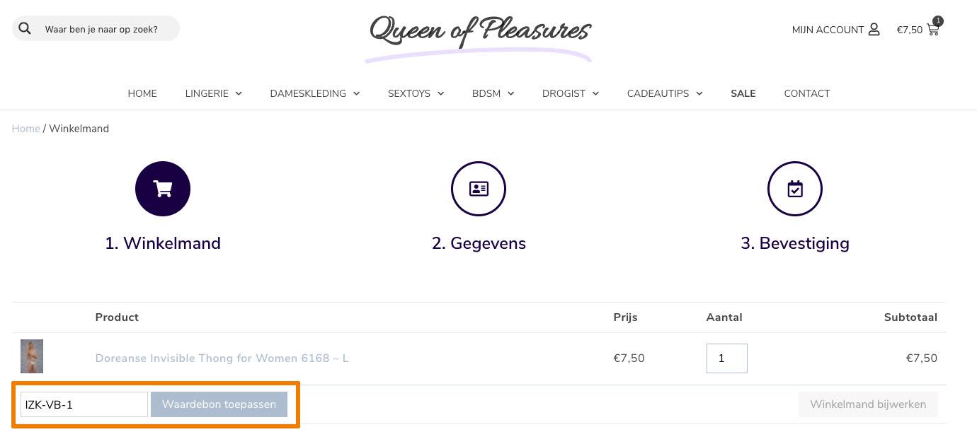 Hoe gebruik je een Queen of Pleasures aanbieding